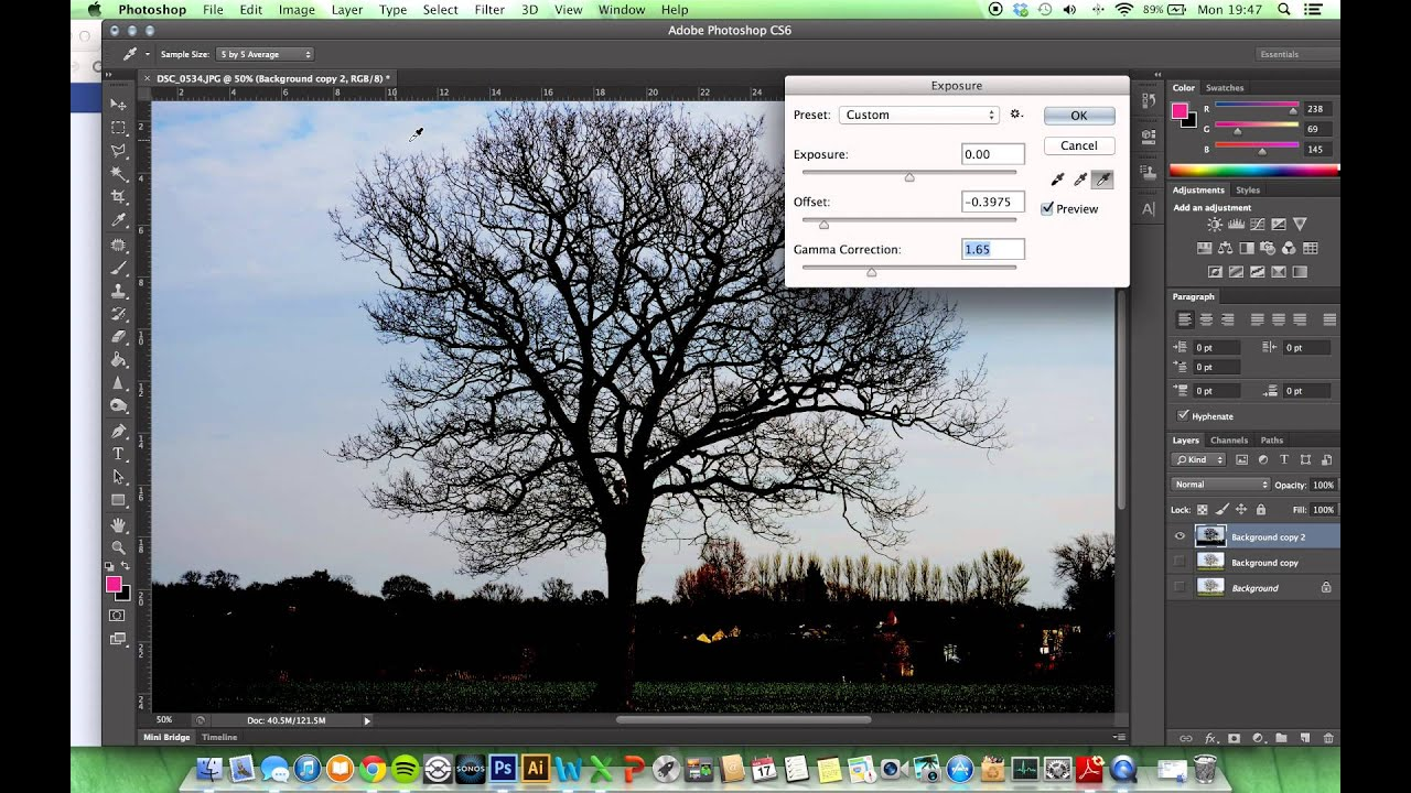 Detailed Selection and Background Removal (Trees) - Photoshop Tutorial