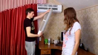 Как правильно почистить кондиционер.(Очистка бытовых кондиционеров при помощи антибактериальных очистителей ТМ