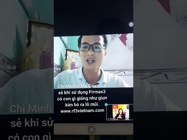 Chị Minh Cà Mau chia sẻ kết quả sử dụng Firmax3