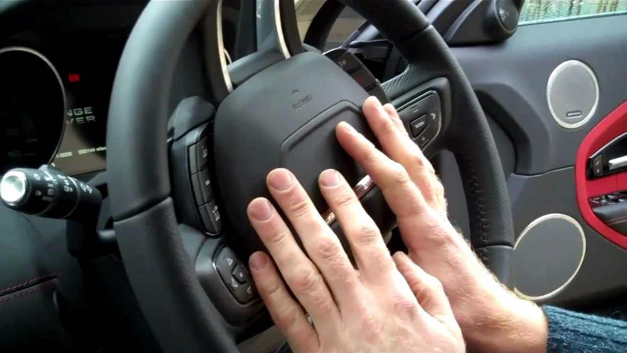 How to remove steering wheel on a Range Rover Evoque 2012