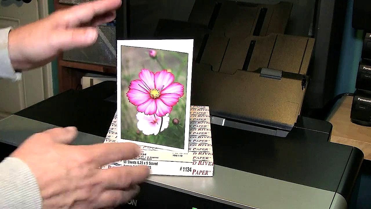 How To Print Greeting Cards On Red River Greeting Card Stock Youtube