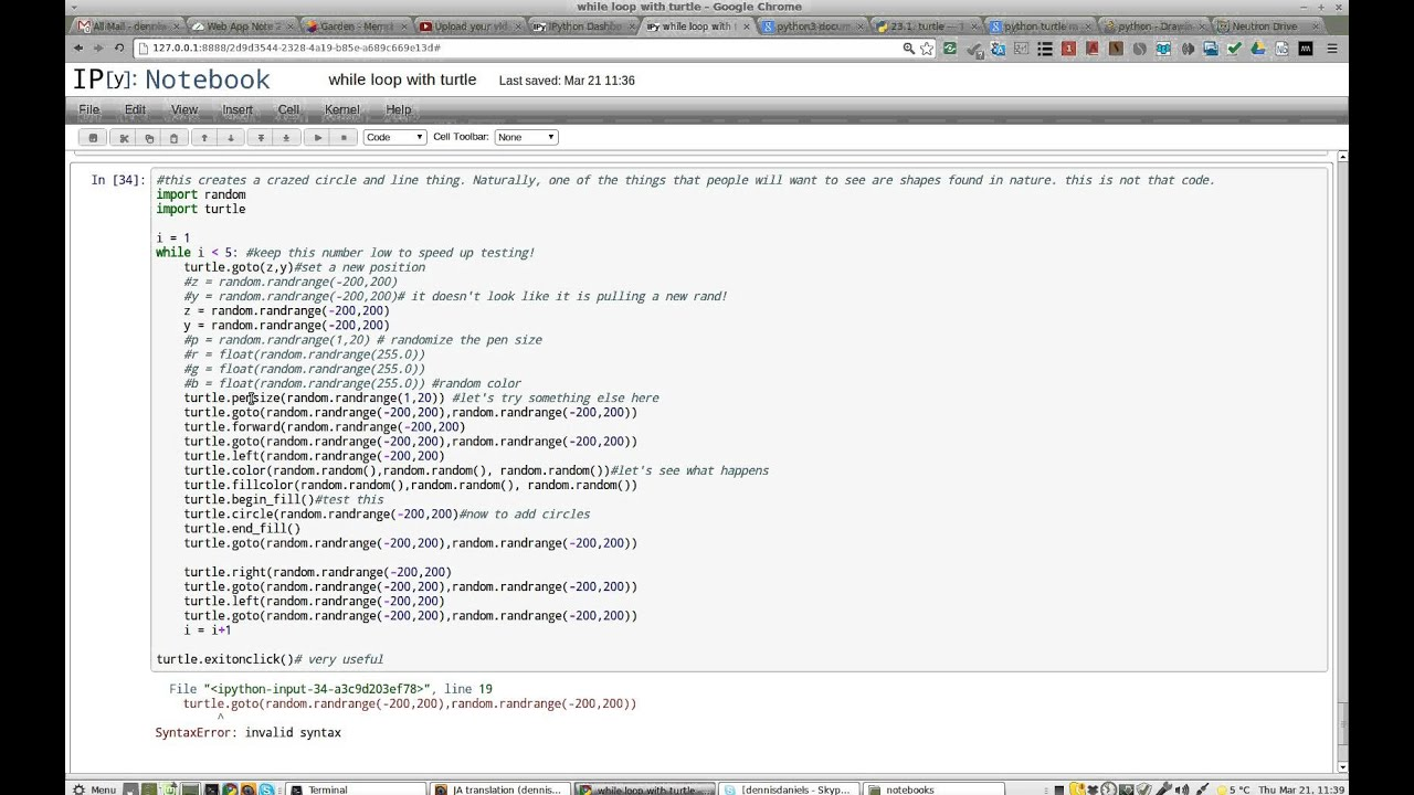 ipython3 notebook wish line numbers and error output are links to