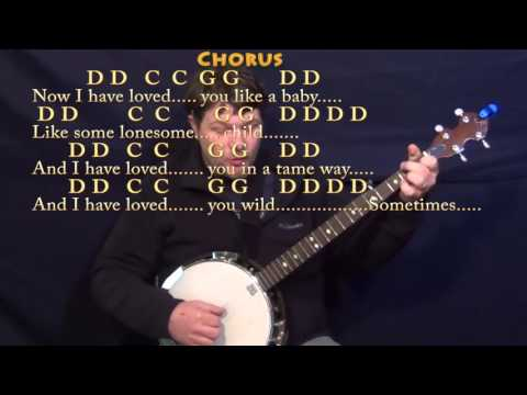 Seven Bridges Road (The Eagles) Banjo Cover Lesson with Chords/Lyrics