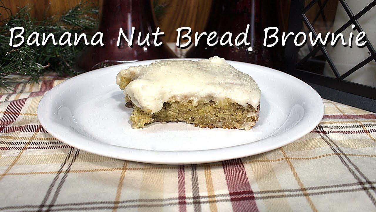 Homemade Banana Nut Bread Brownies Recipe - YouTube