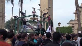 Protest at Cairo University 1/12/2013 Thumbnail