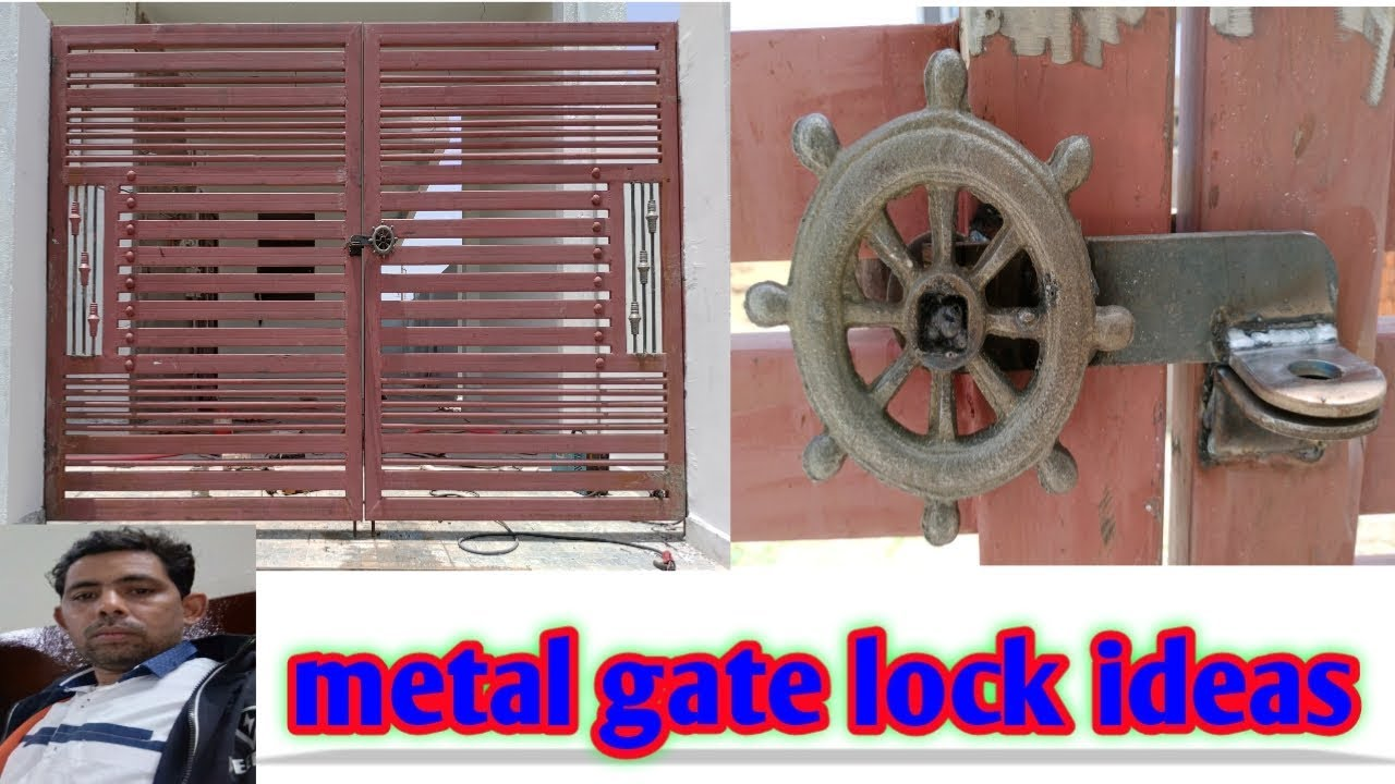 How To Lock Installation For Manual Gate India Youtube