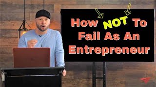 Gambar cover How Not To Fail As An Entrepreneur