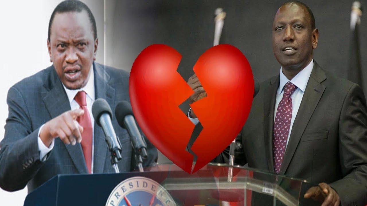 Image result for uhuru and ruto angry