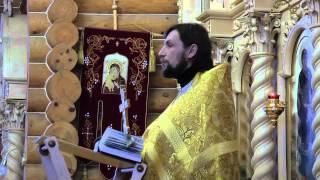 Проповедь иерея Алексея 28 декабря 2014
