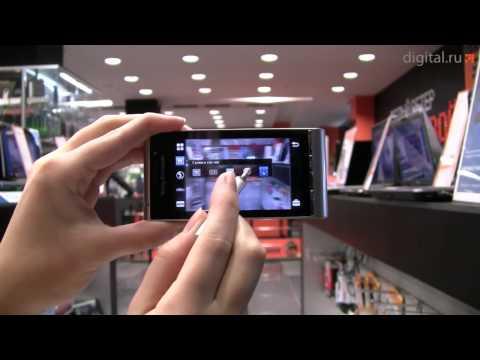 Видеообзор смартфона с камерой 12 Мп Sony Ericsson Satio