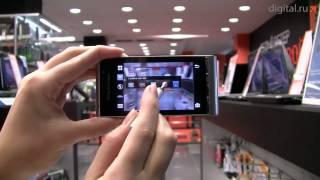 Видеообзор смартфона с камерой 12 Мп Sony Ericsson Satio(Sony Ericsson Satio первый смартфон с камерой 12 Мп. Фотографии, сделанные с его помощью можно распечатывать даже..., 2009-10-13T13:34:58.000Z)