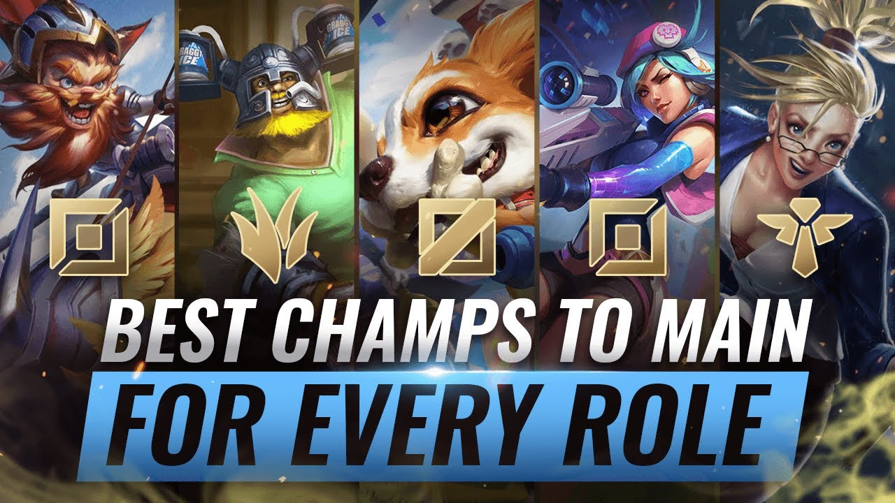 3 Best Champions To Main For Every Role In Season 10 League Of Legends Youtube