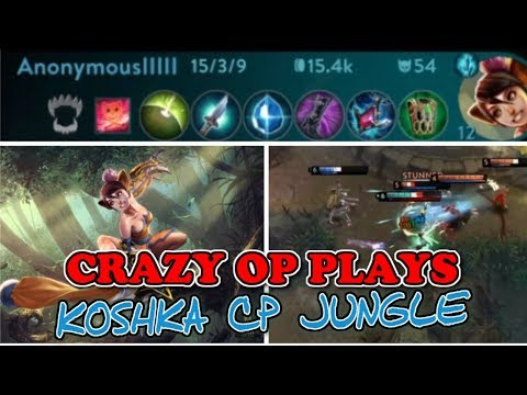 CRAZY PLAYS OP DAMAGE KOSHKA JUNGLE CARRY - VAINGLORY 5V5 UPDATE META AND TIPS