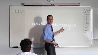 Sum of an Arithmetic Progression (1 of 5: Visual derivation of formula)