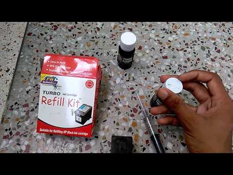 How to refill HP 803 ink cartridge.