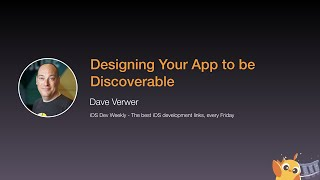 Designing Your App to be Discoverable - iOS Conf SG 2020