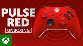 Unboxing Xbox Pulse Red Wireless Controller – Xbox Series X