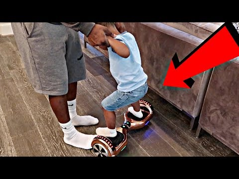 DJ RIDES A HOVERBOARD FOR THE FIRST TIME!!