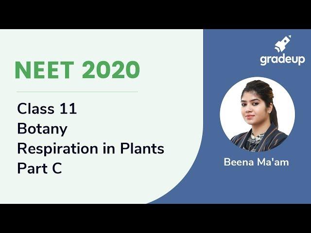 NEET 2020 | Respiration in Plants - Part D | Botany | Class 13