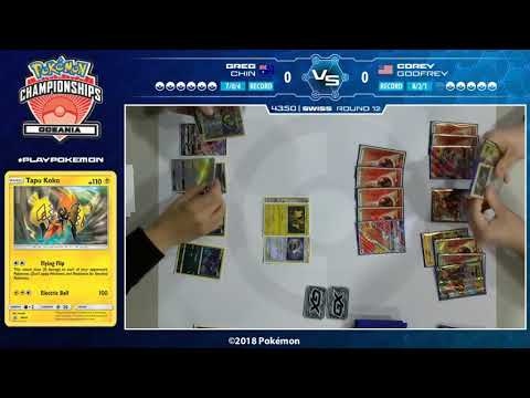 TCG Greg Chin Vs Corey Godfrey -2018 Oceania International Championships Swiss R12