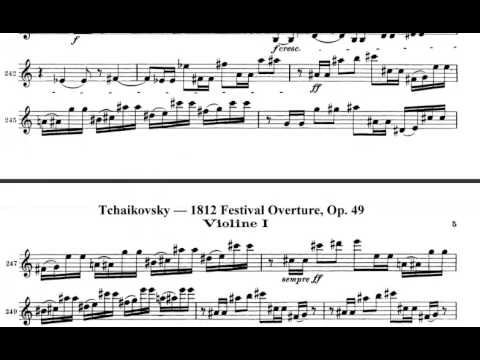 Tchaikovsky 1812 Overture Violin sheet music
