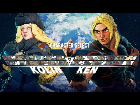 Street Fighter 5 Character Select Screen + Kolin - YouTube