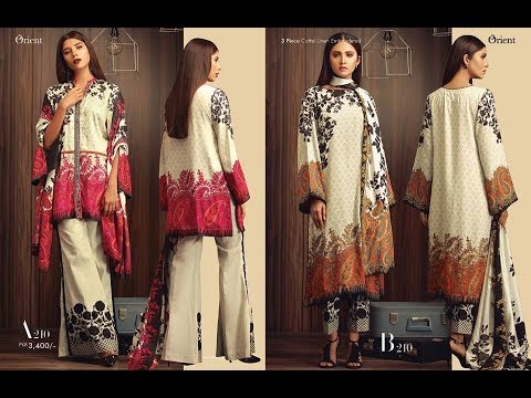 Orient Winter Dresses 2018 latest Winter Collection