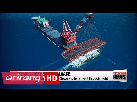 Salvage operation continues on sunken Sewol-ho ferry