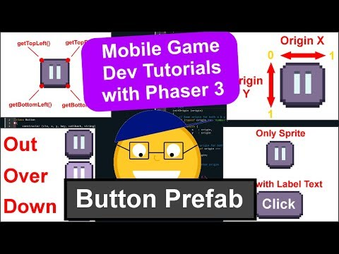 'Endless Cave' Ep. 16: The Button Prefab | Phaser 3 Game Dev Tutorial thumbnail