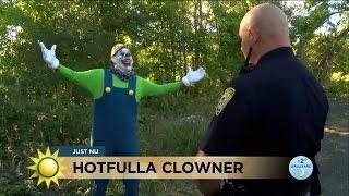 Clownskräck oroar polisen