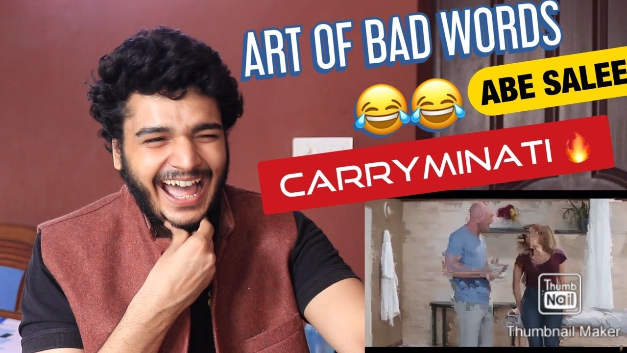 THE ART OF BAD WORDS REACTION || CARRYMINATI || RTV PRODUCTIONS