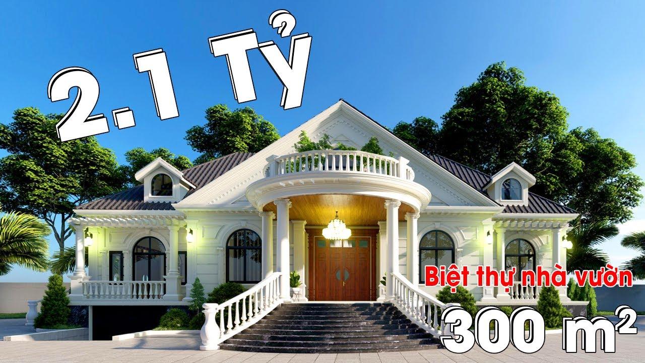 Mẫu Biệt Thự Nhà Vườn Khủng 300m2 Đẹp Đẳng Cấp Tại Châu Thành Tiền Giang Do Kisato Thiết Kế