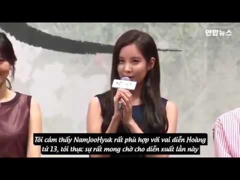 """[Vietsub] Seohyun and Nam Joohyuk - Họp báo phim """"Người tình ánh trăng"""""""