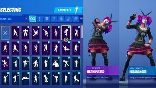 LACE SKIN Fortnite Daฑces And New Emotes