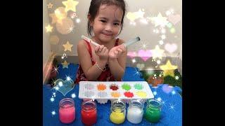 Bé học màu sắc ?❣️ tiếng anh - pha chế màu sắc với bạn Cưng - learn & mix colors