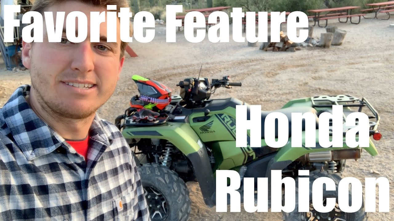 Favorite Feature Honda Rubicon- Reverse Lever