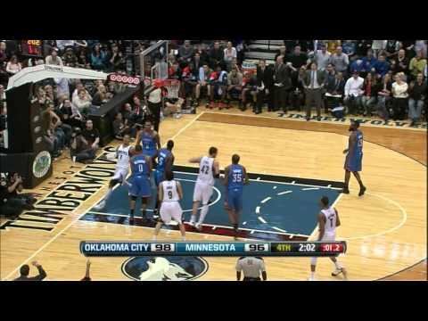 Michael Beasley dunk vs Thunder