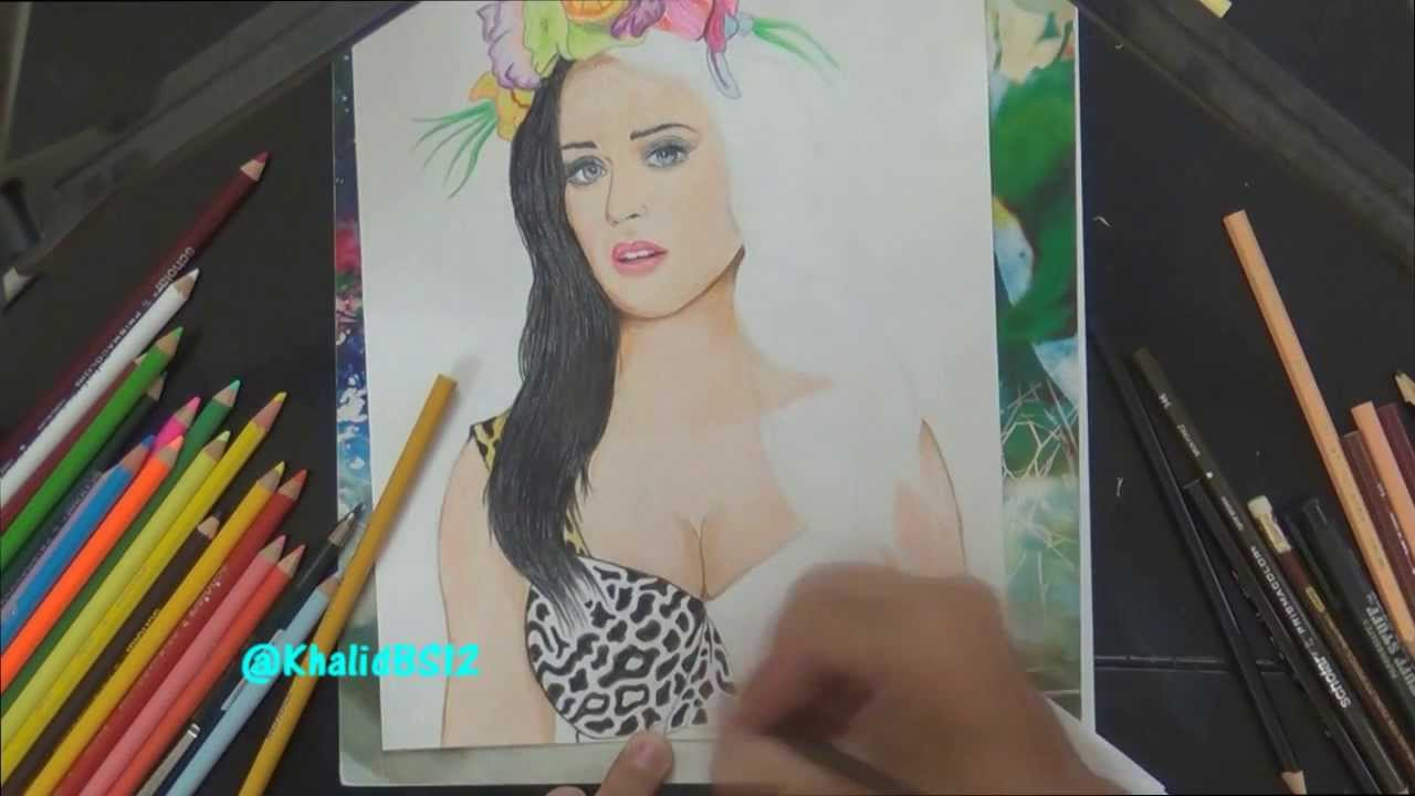 Katy Perry Eyes Drawing