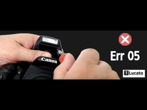 How to fix the built-in flash pop-up that doesn't open on Canon cameras - Error 05