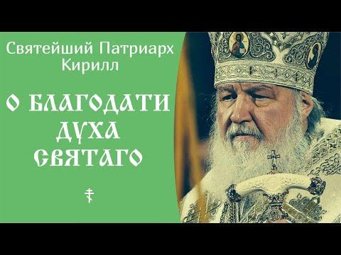 О Благодати Духа Святаго ☦️ Святейший Патриарх Кирилл. Слово на Богоявление Господне.