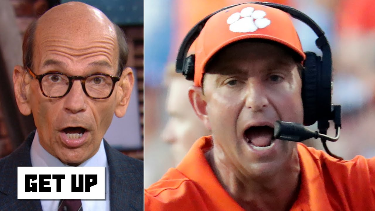Give Dabo Swinney a pacifier, he can't keep his trap shut! - Paul Finebaum gets fired up | Get Up