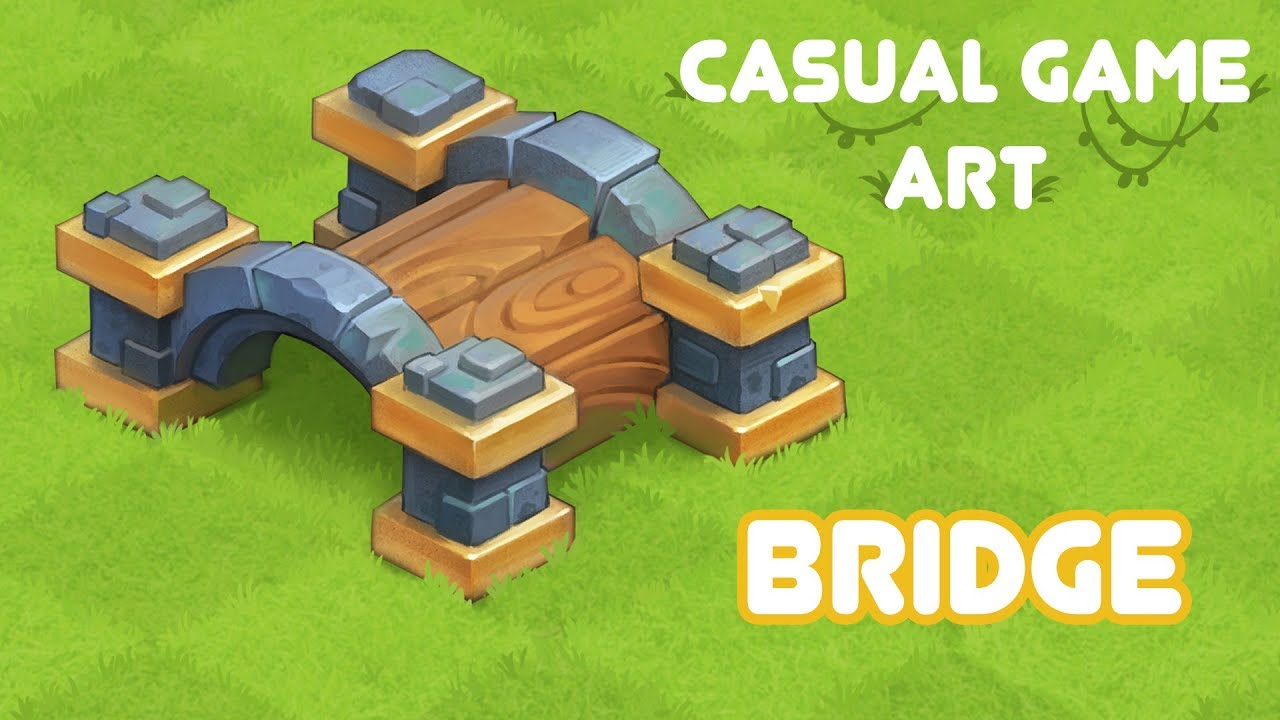 Casual game art - bridge (sketchup, keyshot, photoshop)