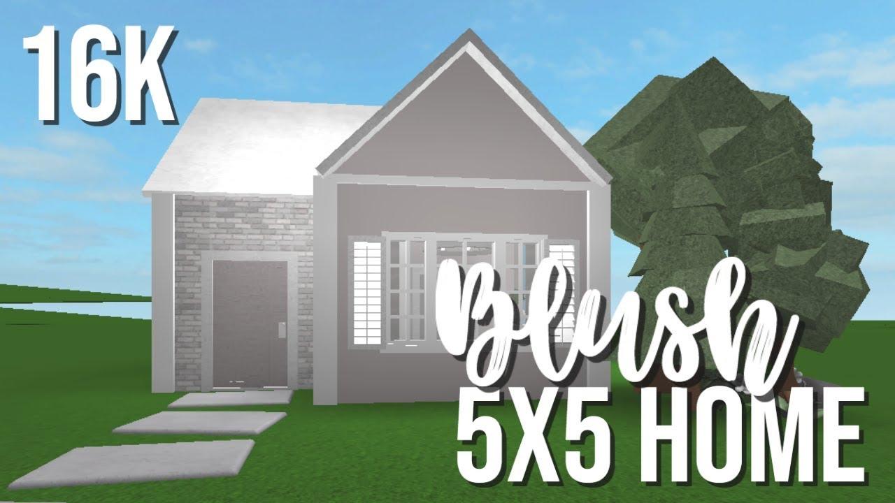 Roblox Bloxburg Blush 5x5 Tiny Home 16k Youtube