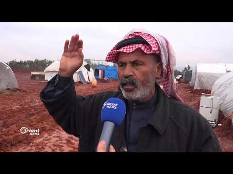 هطول الأمطار يزيد معاناة النازحين في مخيمات اطمة بريف ادلب الشمالي  - 20:20-2018 / 2 / 18
