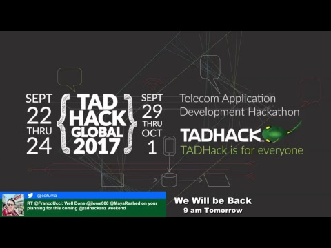 TADHack Global 2017 @ Brisbane on Saturday - Speaker Room