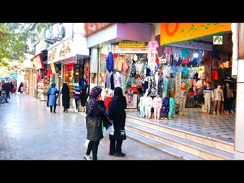 Traveling Iran Walking In Mashhad City Streets & Shops Middle East 2019