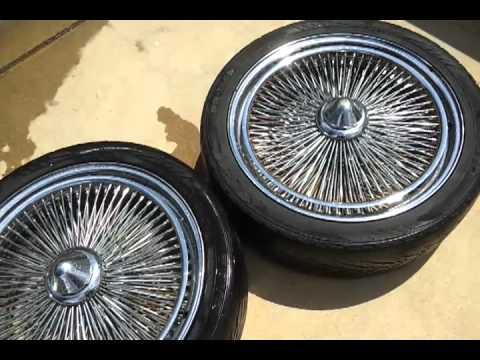 22 Chrome 150 Spoke Wire Wheels W Spinners Youtube