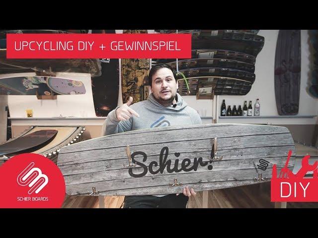 Wakeboard/Kiteboard UPCYCLING: Garderobe DIY + Gewinnspiel