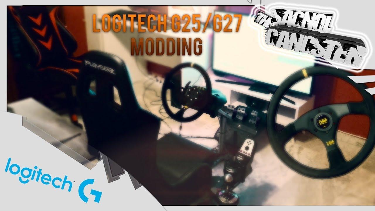 Logitech G25/G27 Wheel,Shifter, DIY Handbrake Modding - How To Install  Tutorial