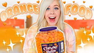 I ONLY ate ORANGE food for 24 HOURS